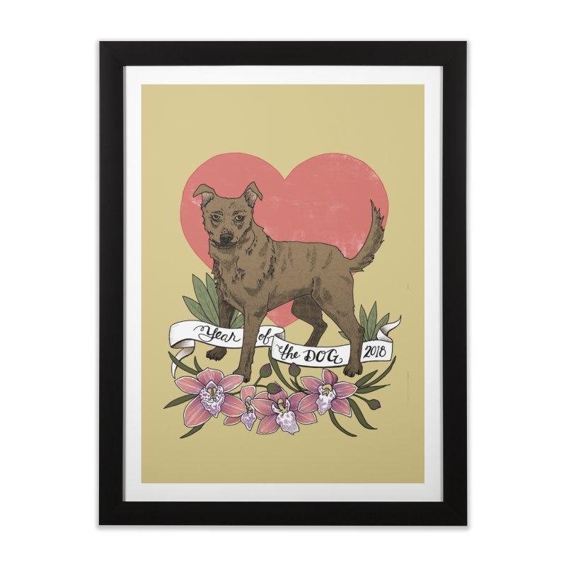 Year of the Dog Home Framed Fine Art Print by mwashburnart's Artist Shop
