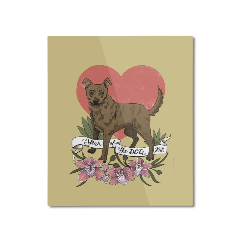 Year of the Dog Home Mounted Aluminum Print by mwashburnart's Artist Shop