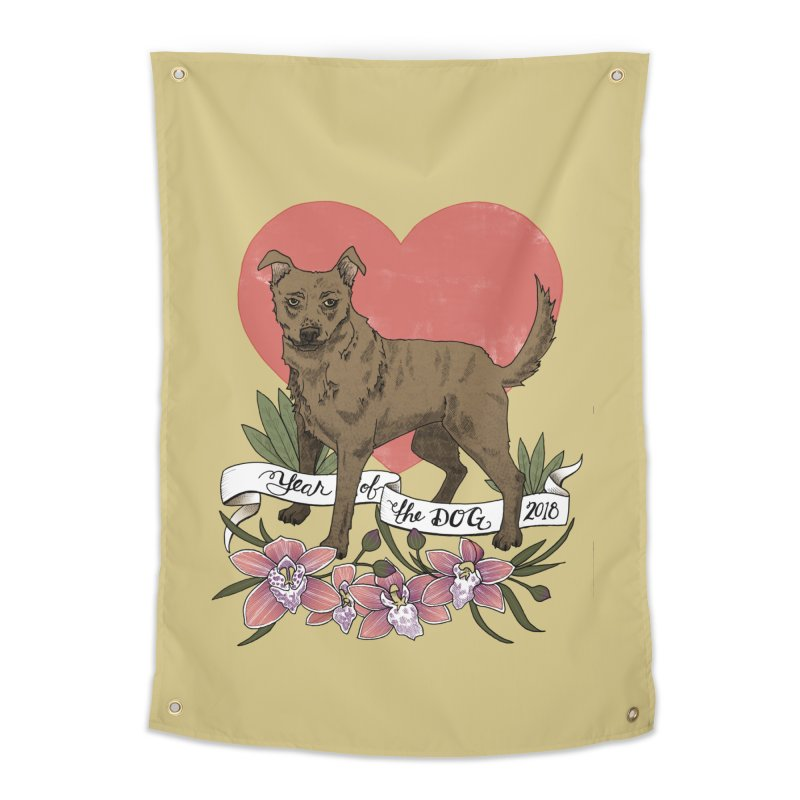 Year of the Dog Home Tapestry by mwashburnart's Artist Shop
