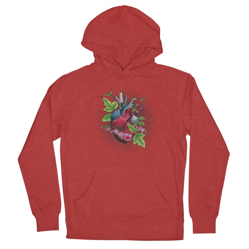 Open Hearted Women's French Terry Pullover Hoody by mwashburnart's Artist Shop