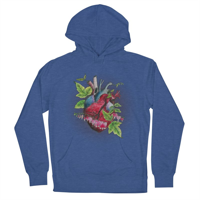 Open Hearted Men's French Terry Pullover Hoody by mwashburnart's Artist Shop