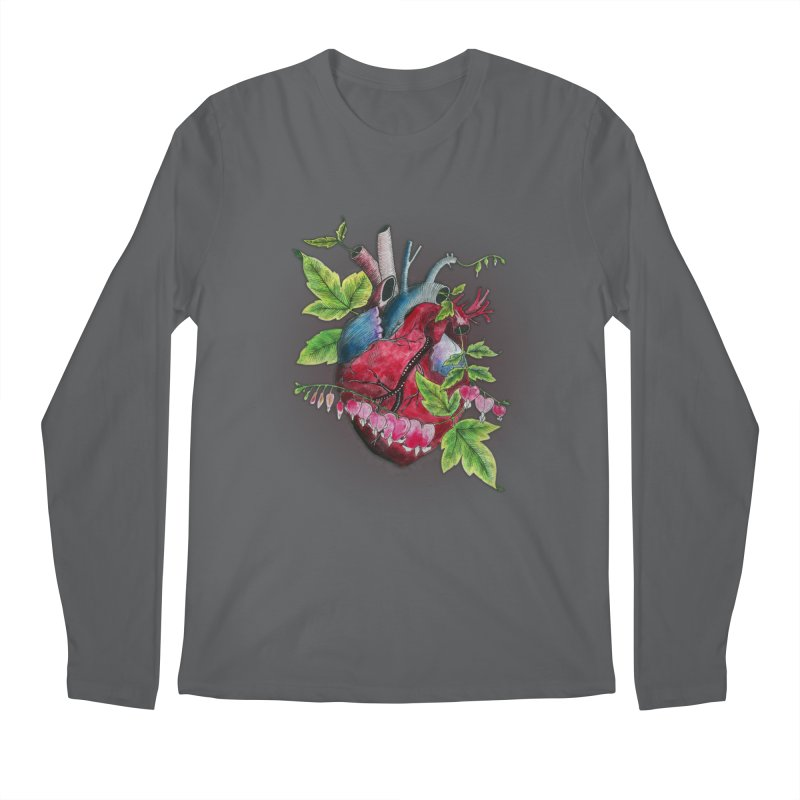 Open Hearted Men's Regular Longsleeve T-Shirt by mwashburnart's Artist Shop