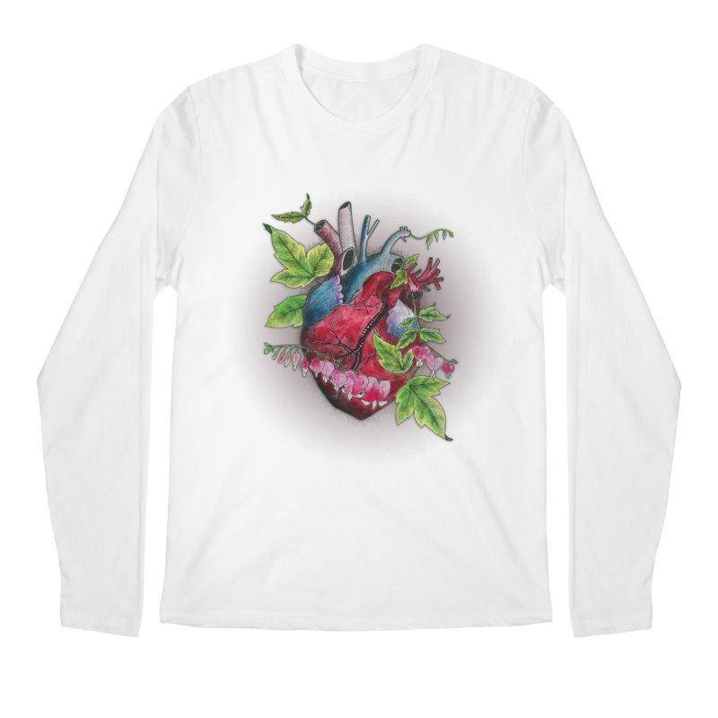 Open Hearted Men's Regular Longsleeve T-Shirt by mwashburnart's Artist Shop