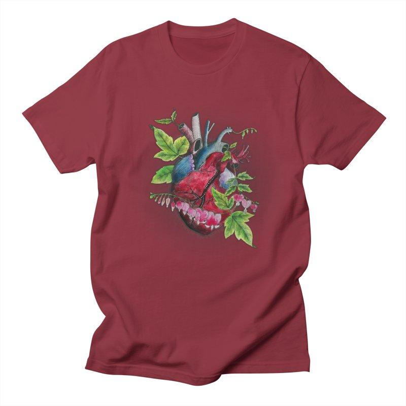 Open Hearted Men's Regular T-Shirt by mwashburnart's Artist Shop