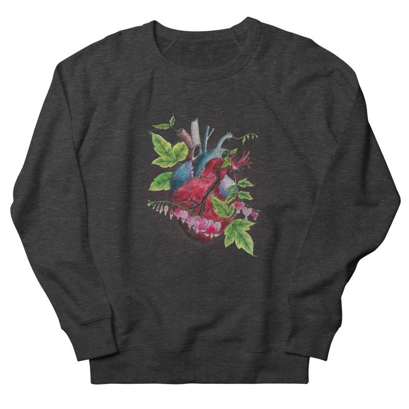 Open Hearted Women's French Terry Sweatshirt by mwashburnart's Artist Shop
