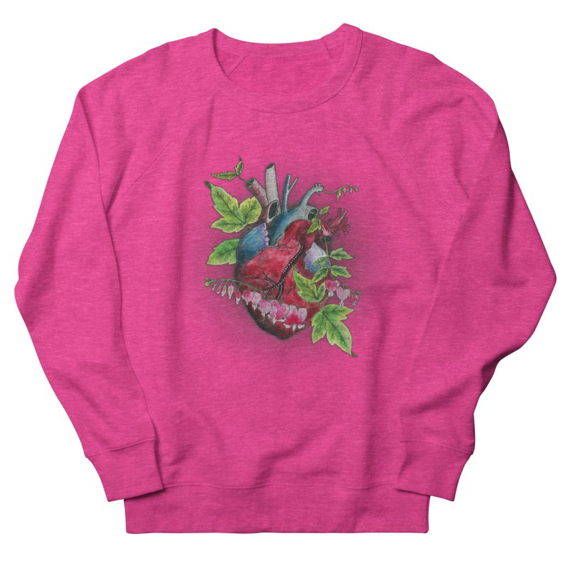 Open Hearted Men's French Terry Sweatshirt by mwashburnart's Artist Shop