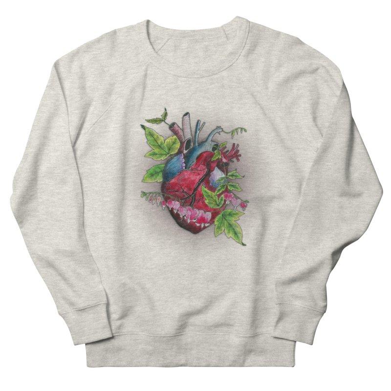 Open Hearted Men's French Terry Sweatshirt by mwashburnart's Artist Shop