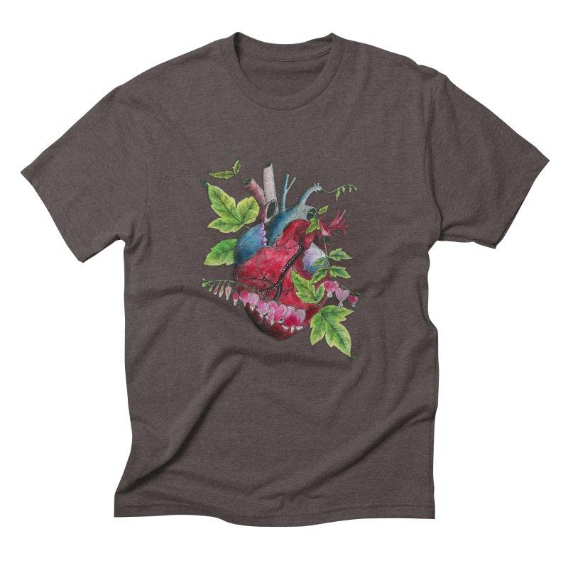 Open Hearted Men's Triblend T-Shirt by mwashburnart's Artist Shop