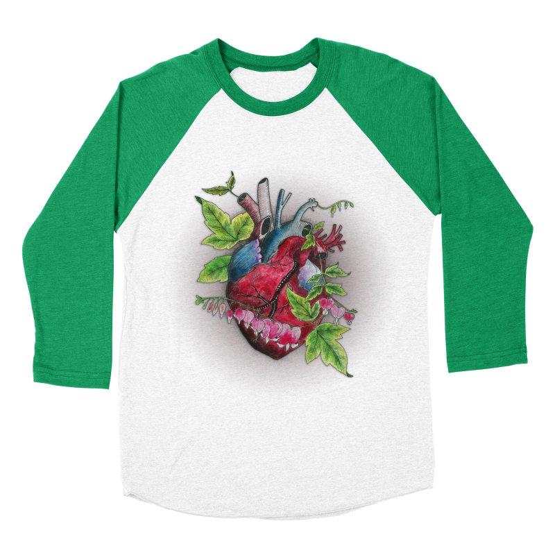 Open Hearted Women's Baseball Triblend Longsleeve T-Shirt by mwashburnart's Artist Shop
