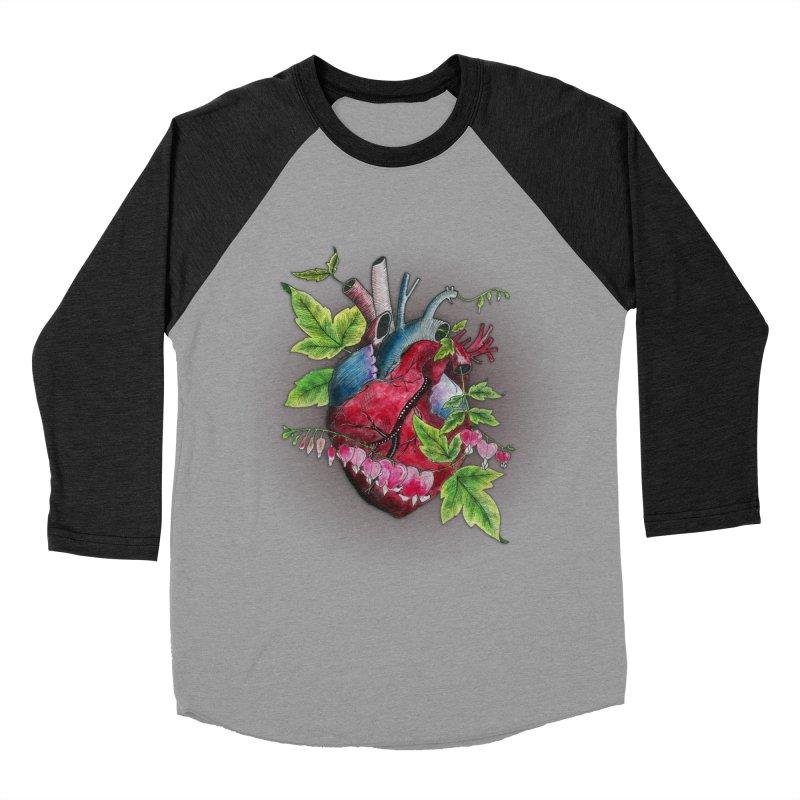 Open Hearted Men's Baseball Triblend Longsleeve T-Shirt by mwashburnart's Artist Shop