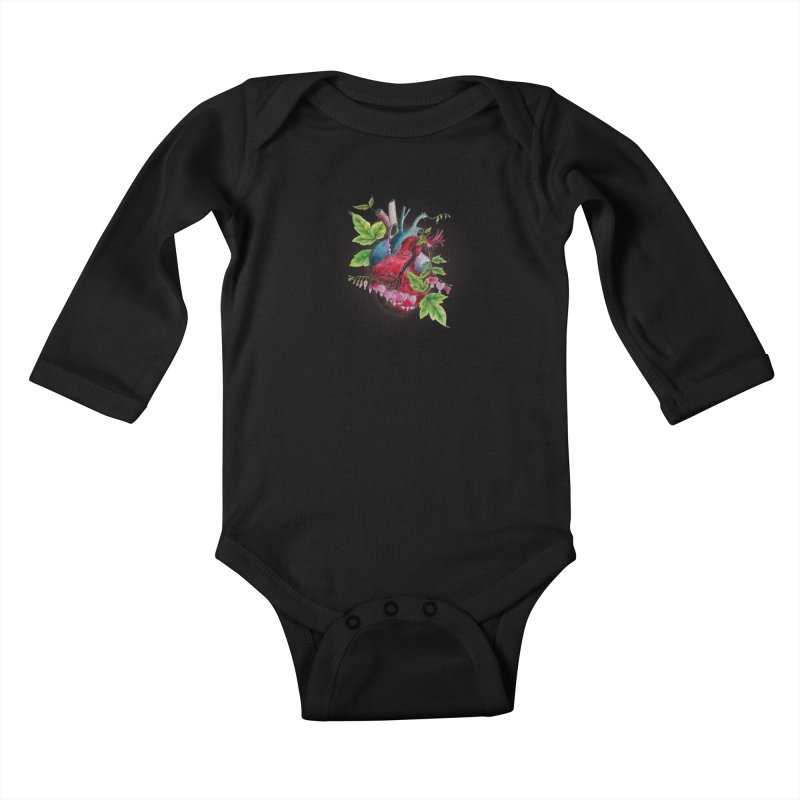 Open Hearted Kids Baby Longsleeve Bodysuit by mwashburnart's Artist Shop
