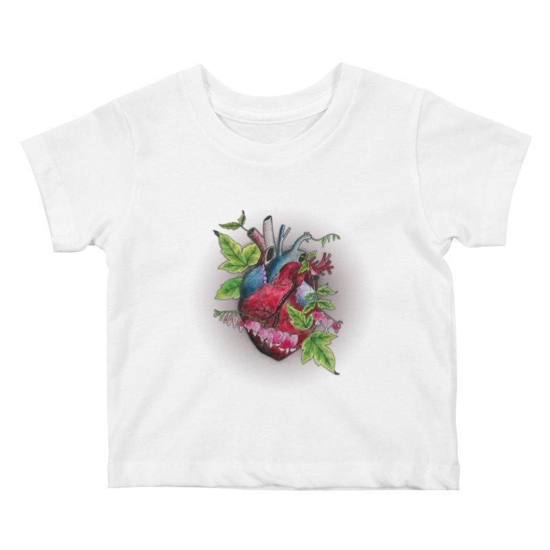 Open Hearted Kids Baby T-Shirt by mwashburnart's Artist Shop