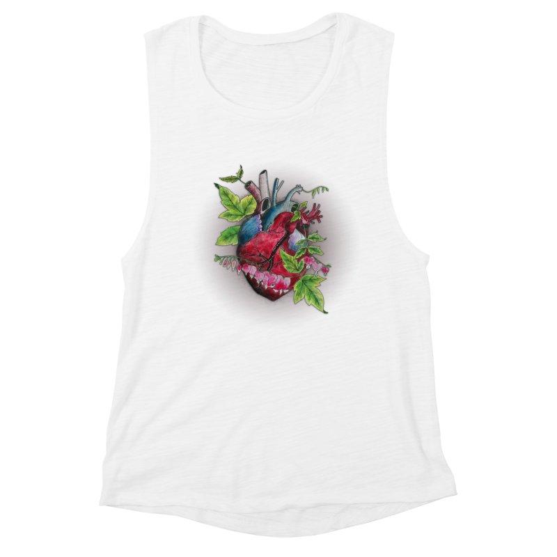 Open Hearted Women's Muscle Tank by mwashburnart's Artist Shop