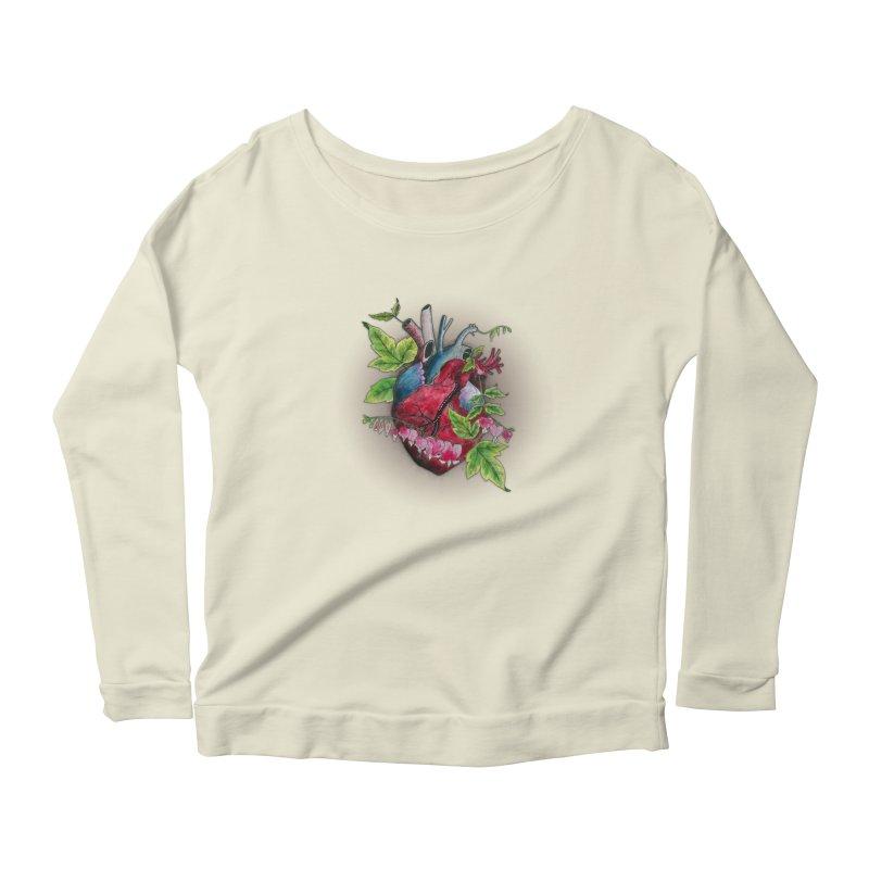 Open Hearted Women's Scoop Neck Longsleeve T-Shirt by mwashburnart's Artist Shop