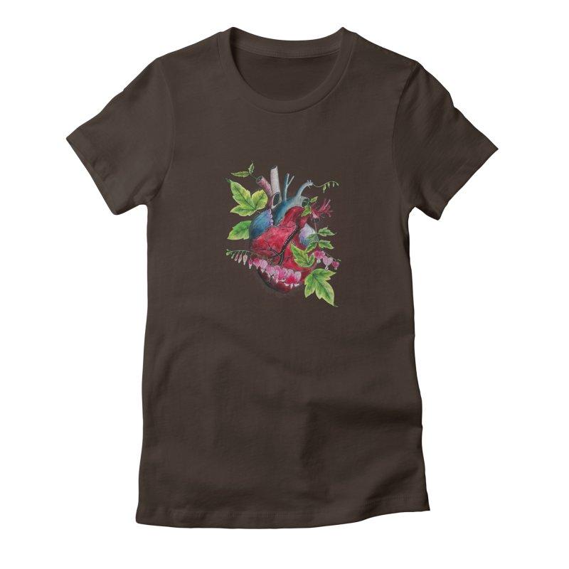 Open Hearted Women's Fitted T-Shirt by mwashburnart's Artist Shop