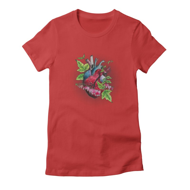 Open Hearted Women's Fitted T-Shirt by mwashburnart's Artist Shop