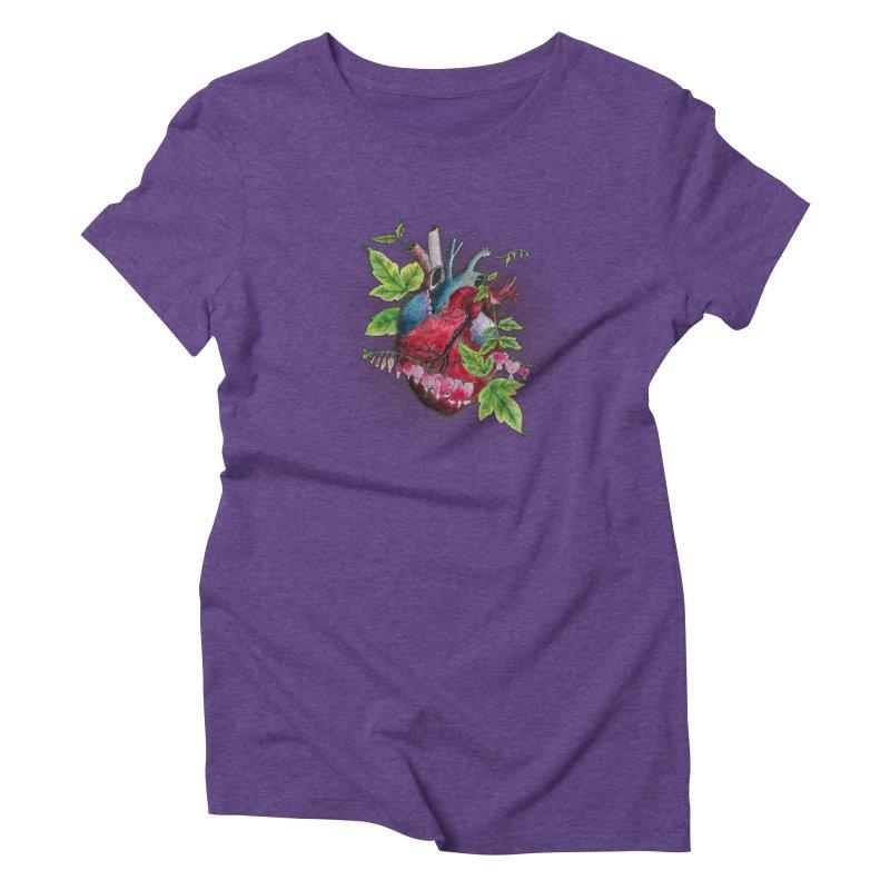 Open Hearted Women's Triblend T-Shirt by mwashburnart's Artist Shop