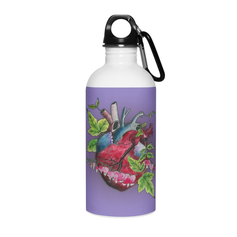 Open Hearted Accessories Water Bottle by mwashburnart's Artist Shop