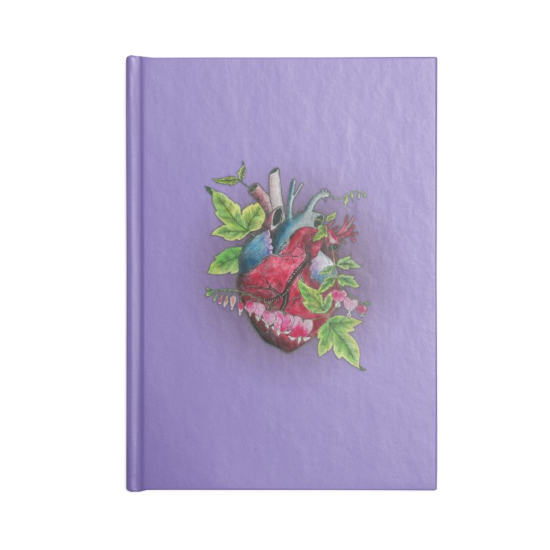 Open Hearted Accessories Lined Journal Notebook by mwashburnart's Artist Shop