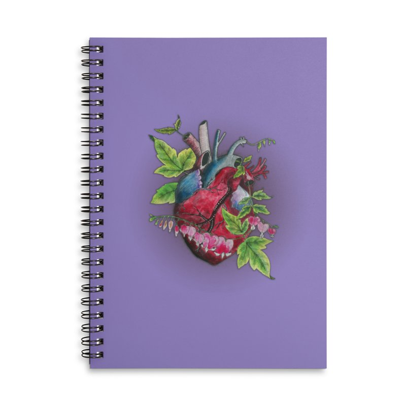 Open Hearted Accessories Lined Spiral Notebook by mwashburnart's Artist Shop