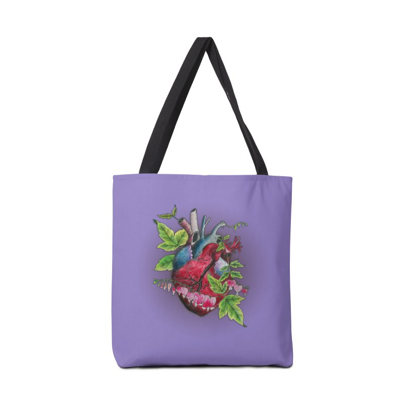Open Hearted Accessories Tote Bag Bag by mwashburnart's Artist Shop
