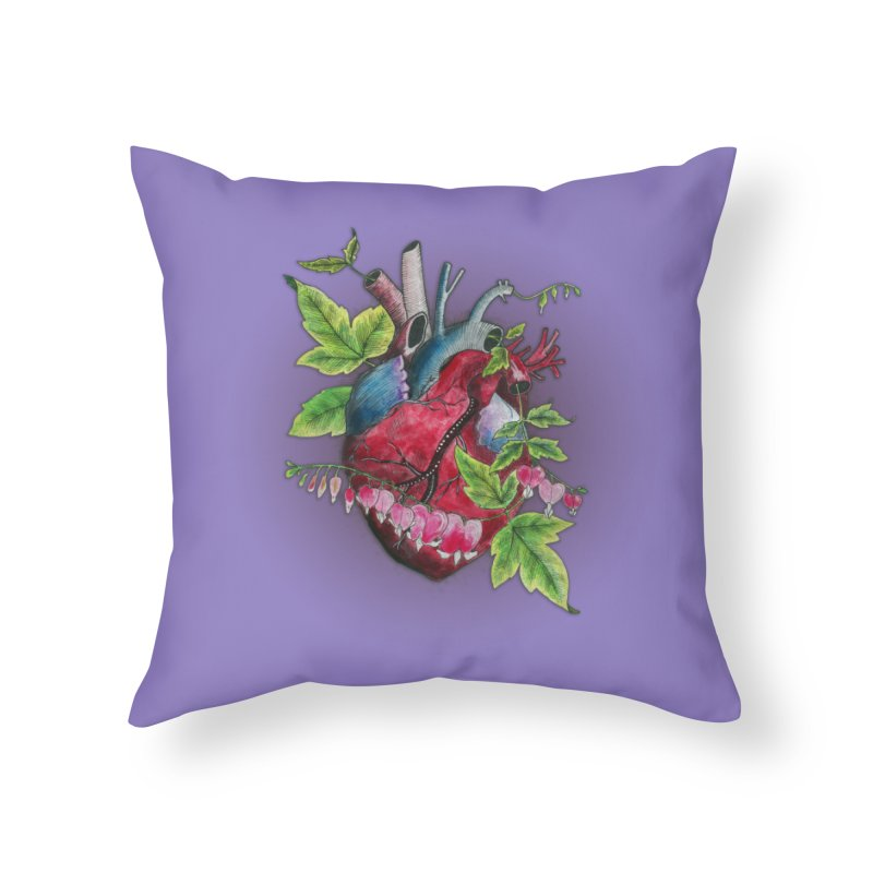 Open Hearted Home Throw Pillow by mwashburnart's Artist Shop