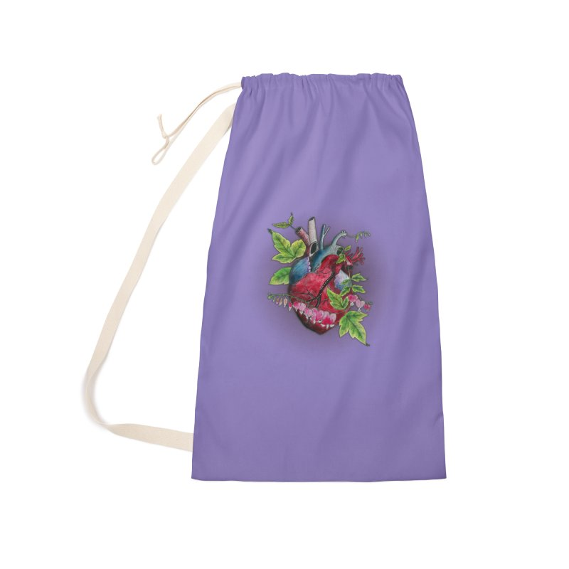 Open Hearted Accessories Laundry Bag Bag by mwashburnart's Artist Shop