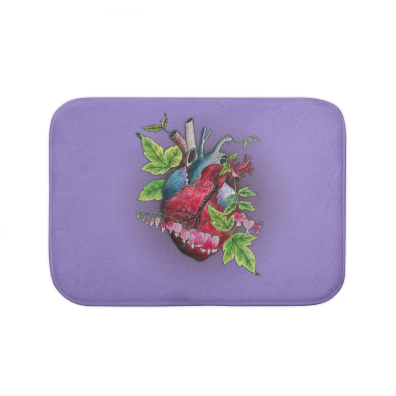 Open Hearted Home Bath Mat by mwashburnart's Artist Shop