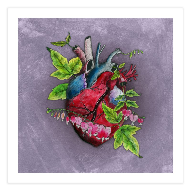Open Hearted Home Fine Art Print by mwashburnart's Artist Shop