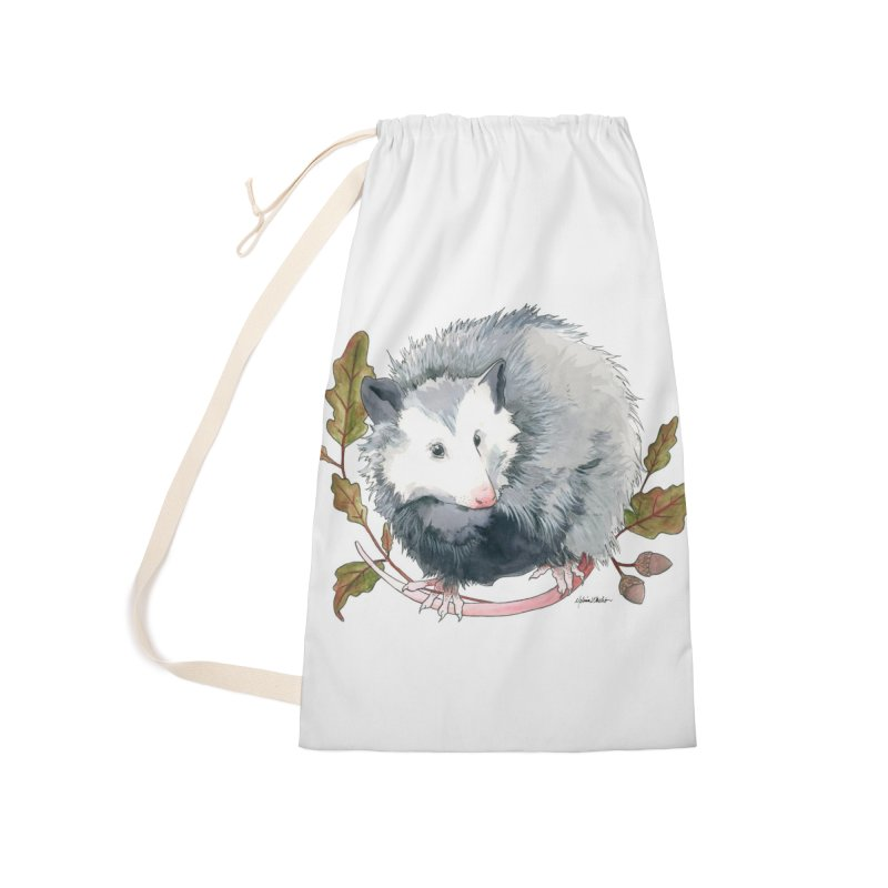 Possum and Oak Leaves Accessories Laundry Bag Bag by mwashburnart's Artist Shop