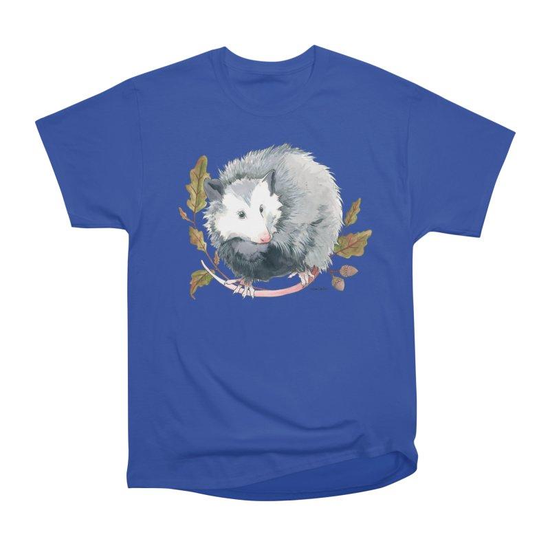 Possum and Oak Leaves Women's Heavyweight Unisex T-Shirt by mwashburnart's Artist Shop