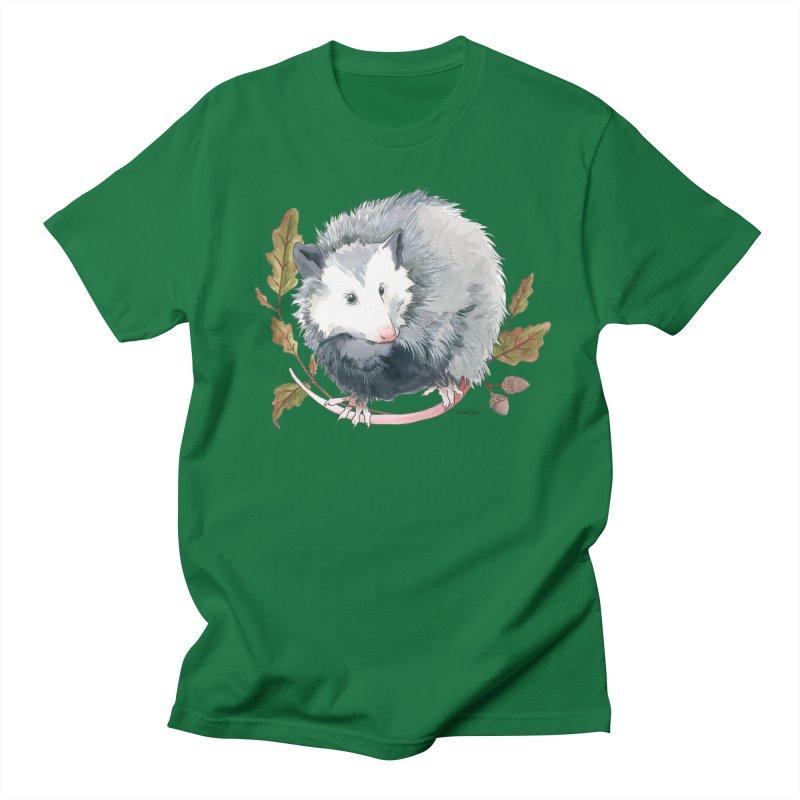 Possum and Oak Leaves Women's Regular Unisex T-Shirt by mwashburnart's Artist Shop