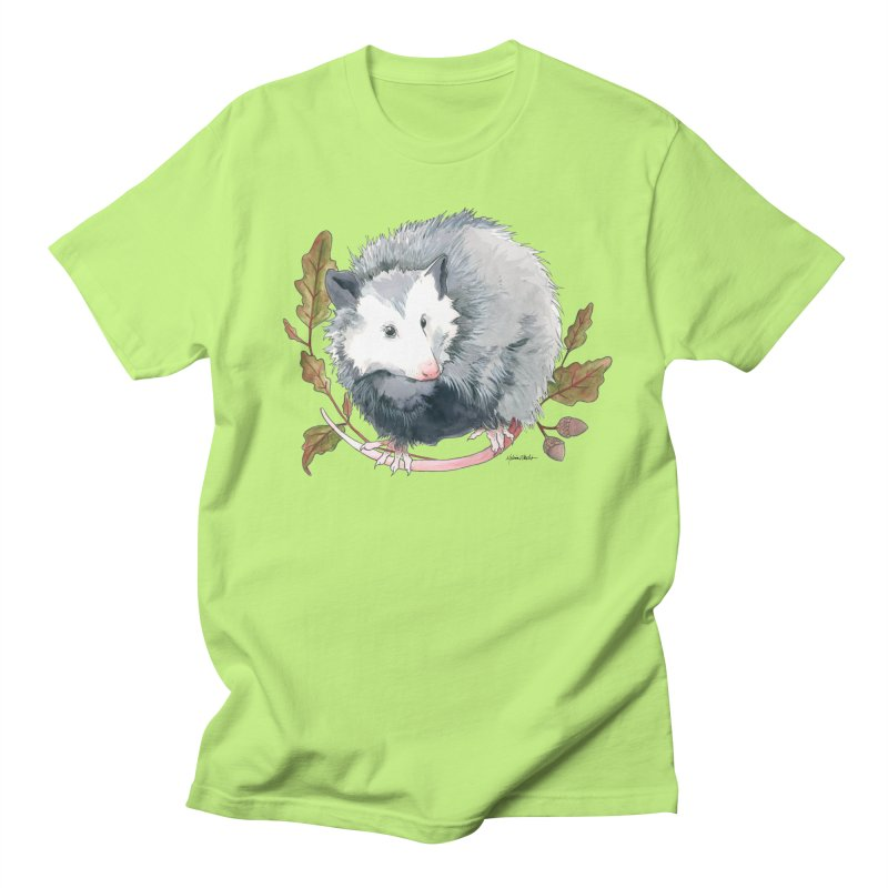 Possum and Oak Leaves Men's Regular T-Shirt by mwashburnart's Artist Shop