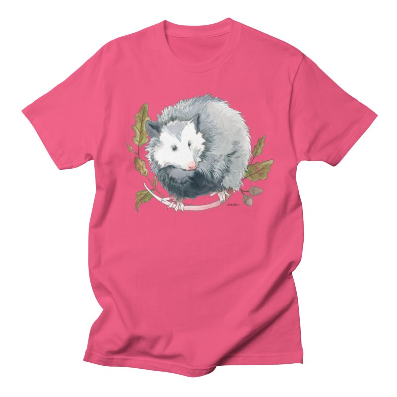 Possum and Oak Leaves Men's Regular T-Shirt by mwashburnart's Artist Shop