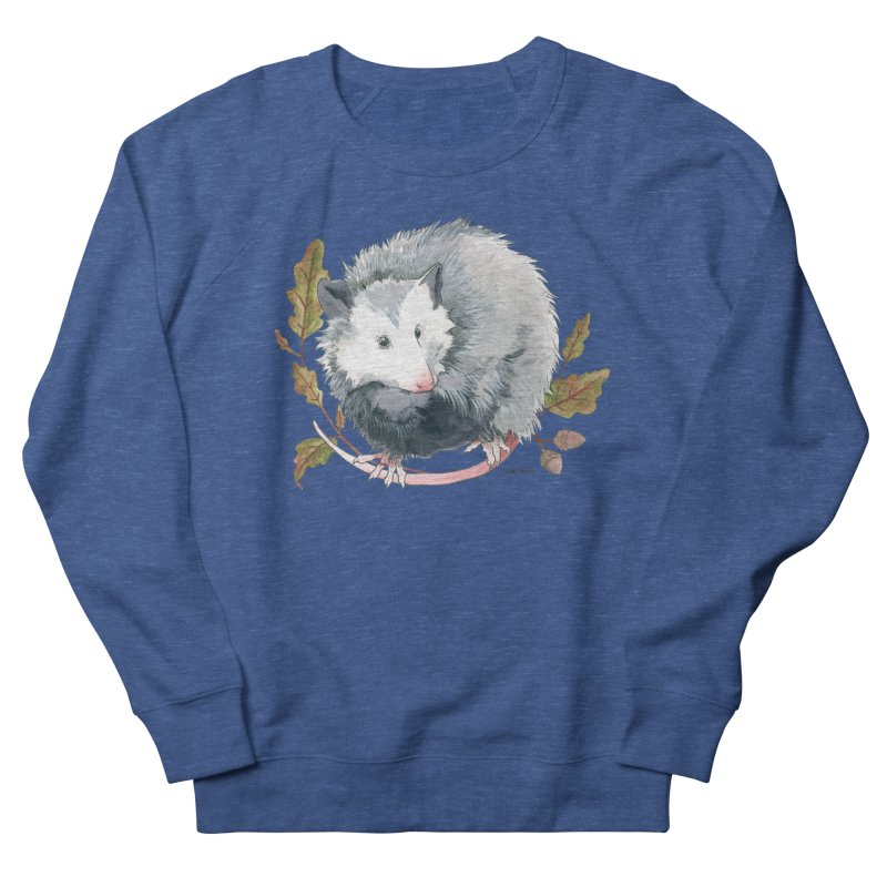 Possum and Oak Leaves Men's French Terry Sweatshirt by mwashburnart's Artist Shop