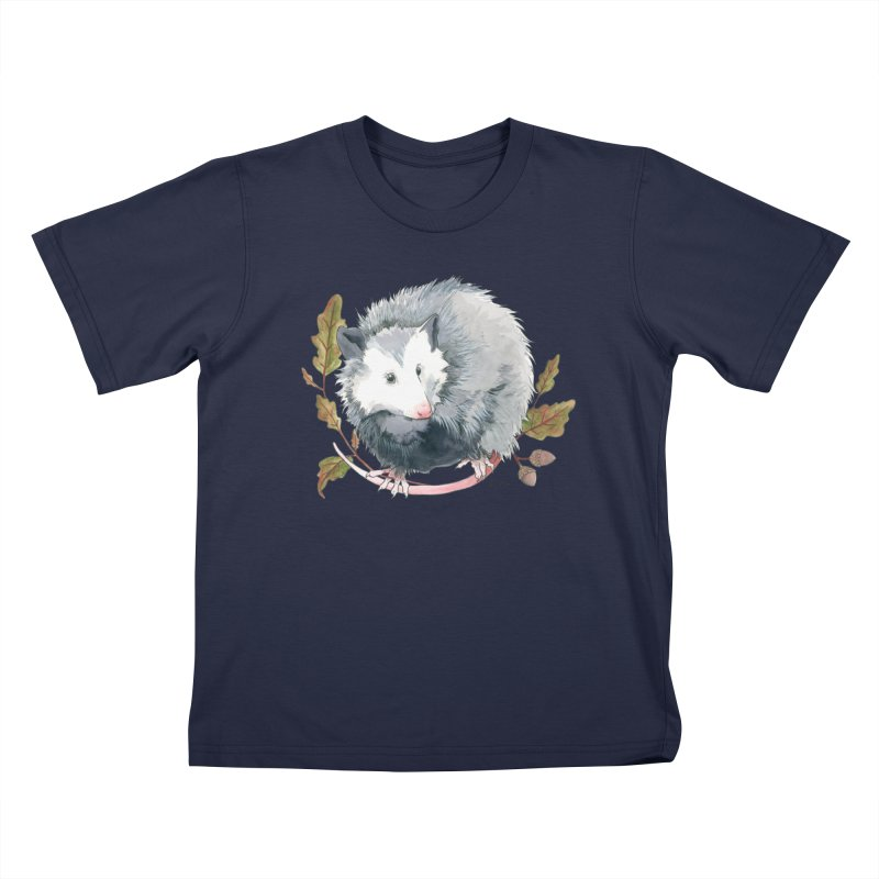 Possum and Oak Leaves Kids T-Shirt by mwashburnart's Artist Shop