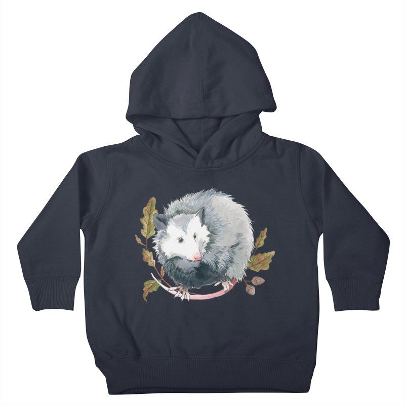 Possum and Oak Leaves Kids Toddler Pullover Hoody by mwashburnart's Artist Shop