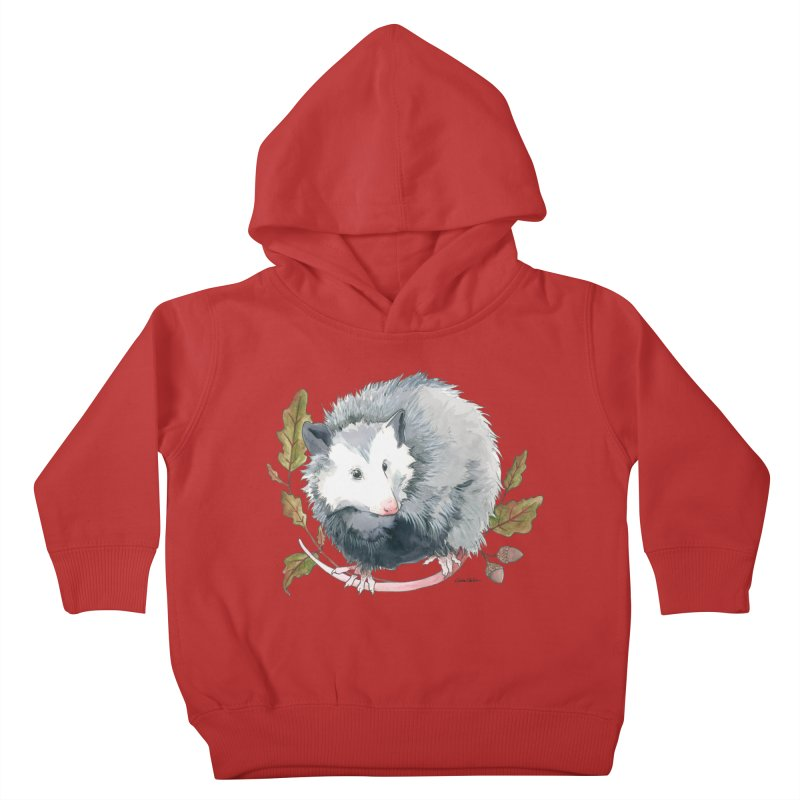 Possum and Oak Leaves Kids Toddler Pullover Hoody by mwashburnart's Artist Shop