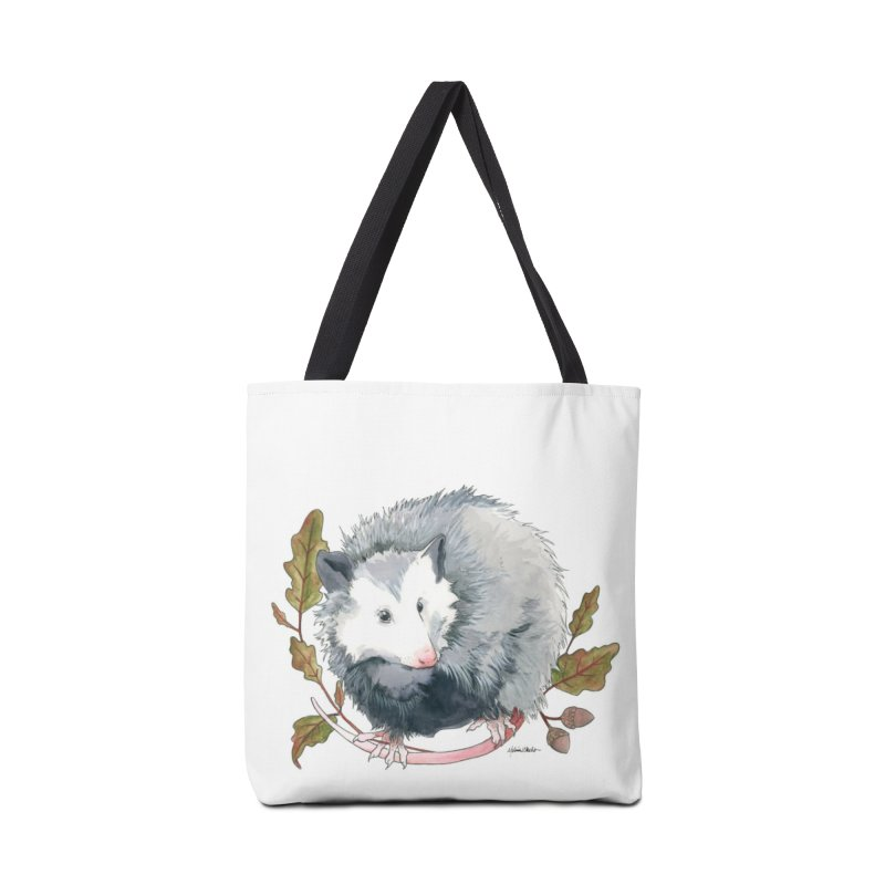 Possum and Oak Leaves Accessories Tote Bag Bag by mwashburnart's Artist Shop