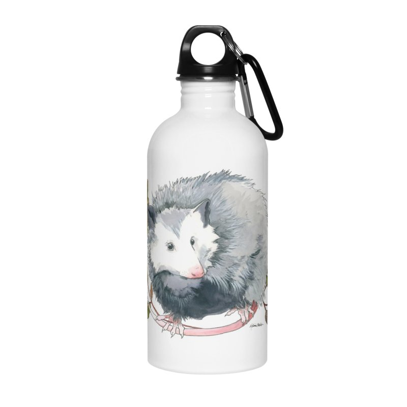 Possum and Oak Leaves Accessories Water Bottle by mwashburnart's Artist Shop