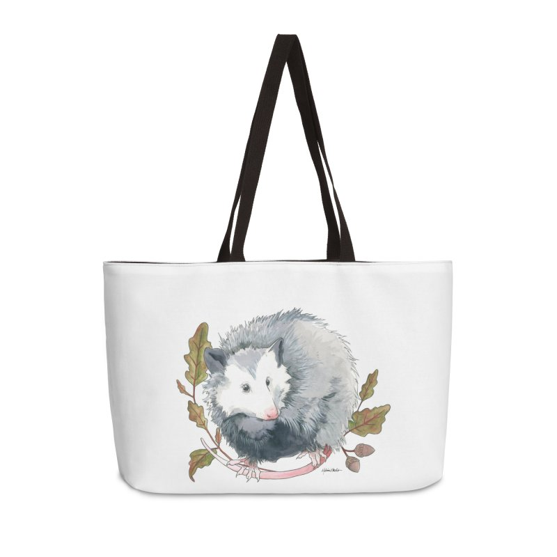Possum and Oak Leaves Accessories Weekender Bag Bag by mwashburnart's Artist Shop