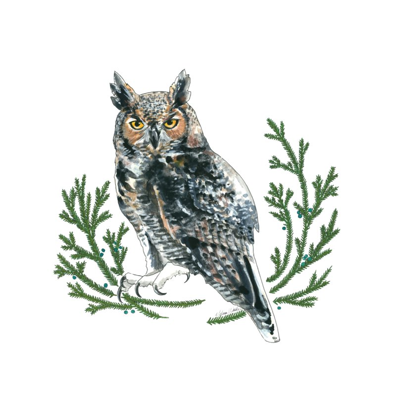 Great Horned Owl by mwashburnart's Artist Shop