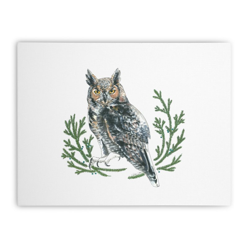 Great Horned Owl Home Stretched Canvas by mwashburnart's Artist Shop