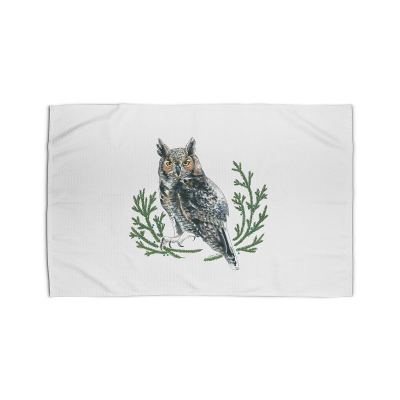 Great Horned Owl Home Rug by mwashburnart's Artist Shop