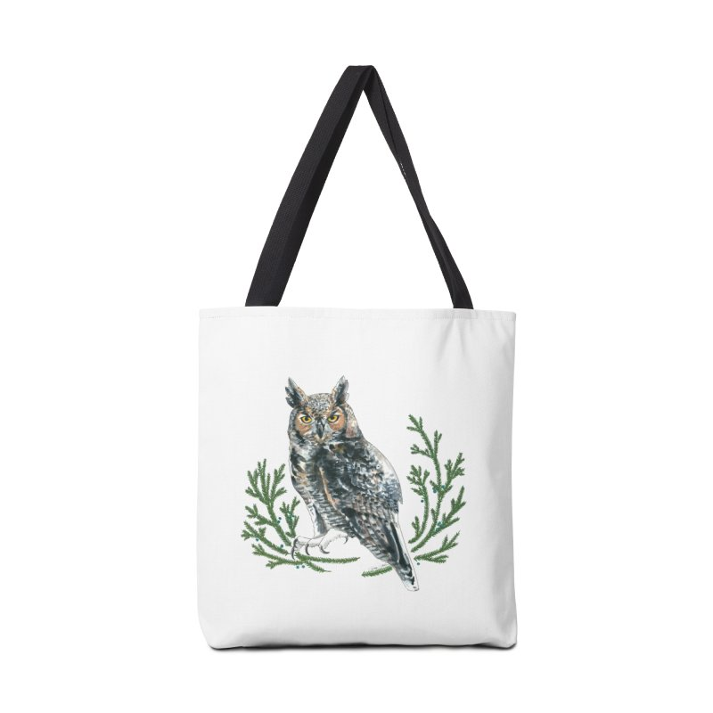 Great Horned Owl Accessories Tote Bag Bag by mwashburnart's Artist Shop