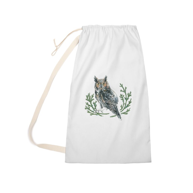 Great Horned Owl Accessories Laundry Bag Bag by mwashburnart's Artist Shop