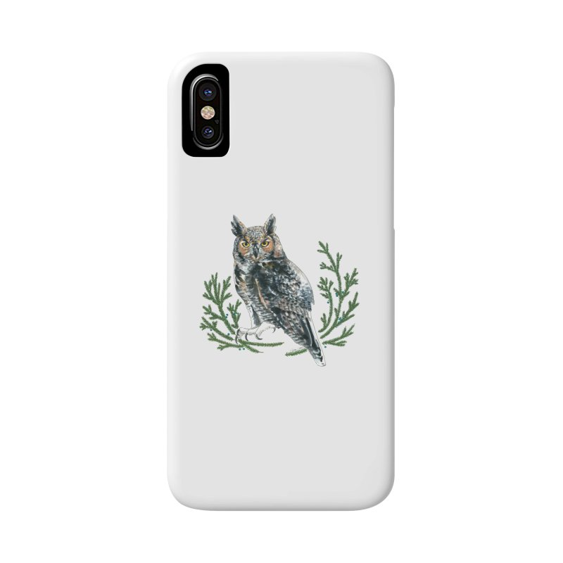 Great Horned Owl Accessories Phone Case by mwashburnart's Artist Shop