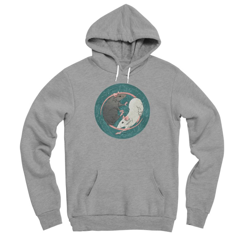 Yin and Yang Rats Men's Sponge Fleece Pullover Hoody by mwashburnart's Artist Shop