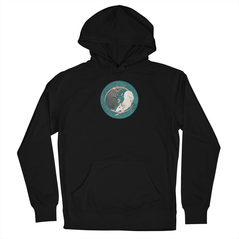Yin and Yang Rats Men's French Terry Pullover Hoody by mwashburnart's Artist Shop