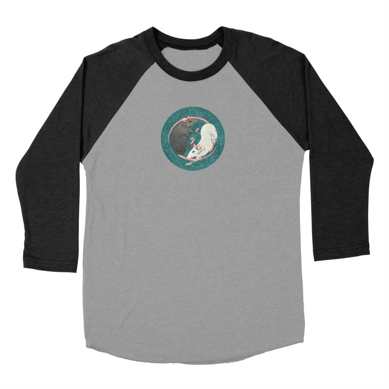 Yin and Yang Rats Women's Baseball Triblend Longsleeve T-Shirt by mwashburnart's Artist Shop